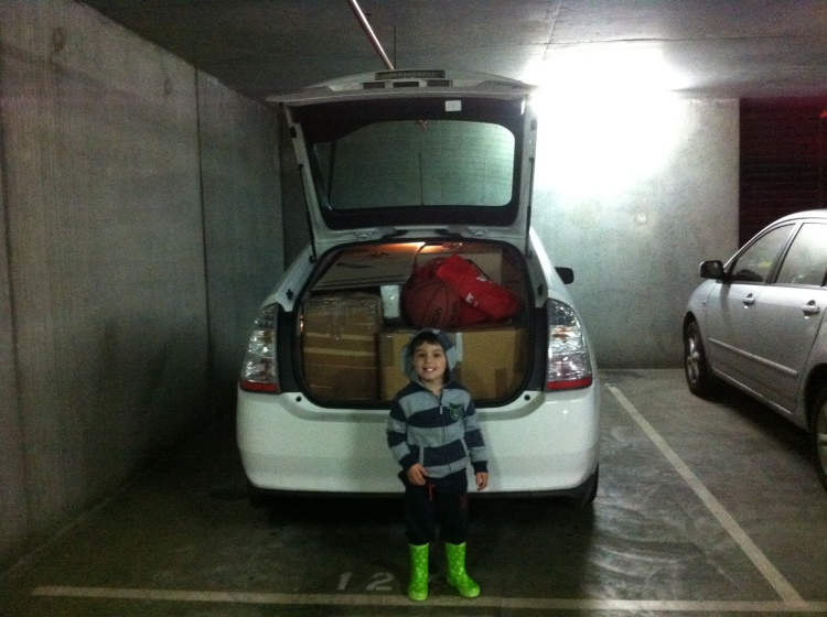 Packed and on the move